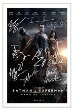 CAST -  BATMAN VS SUPERMAN MULTI SIGNED AUTOGRAPH PHOTO PRINT