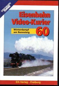 DVD Eisenbahn Video-Kurier 60 ua Winterdampf am Rennsteig / Lausitzbahn / 58 Min