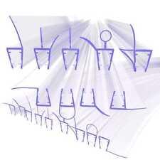Ersatzdichtung Wasserabweiser Schwallschutz Duschdichtung Duschkabine Dusche