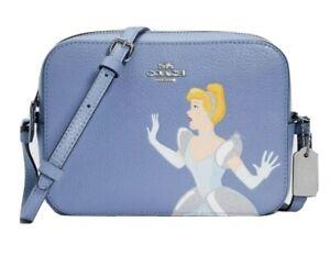 Coach Disney X Coach Mini Camera Bag With Cinderella C3406 Periwinkle Multi NWT