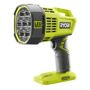 Dual Power LED Spotlight Cordless Work Light Bright Flashlight Ryobi 18-Volt ONE