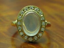 18kt 750 Yellow Gold Ring 0,32ct Brilliant & 5,00ct Monstein Decorations/Rg 54