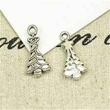 20pc Tibetan Silver Christmas tree Charm Beads Pendant Findings PL729