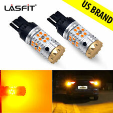 2x Lasfit Amber 7440 7440A 7441 Led Turn Signal Lights Anti Hyper Flash W Canbus