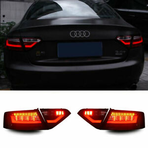 LED Taillights Assembly For Audi A5 2008-2016 Dark/Red Replace OEM Rear lights