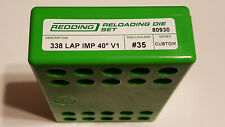 80930 REDDING 2-DIE FULL LENGTH CUSTOM DIE SET - 338 LAPUA IMPROVED 40 V1 - NEW