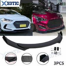 For Hyundai Elantra Veloster Genesis Gloss Black Front Bumper Lip Spoiler Kit Us