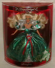Happy Holidays Barbie 1995 Special Edition 14123 Green Holly MIB 074299141232