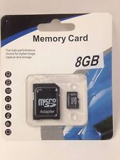 LOT OF 25 NEW 8GB MEMORY SD CARD SDHC TF FLASH MICRO CLASS 4 WITH ADAPTER