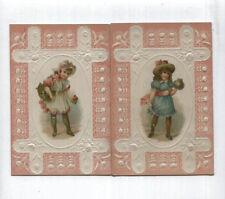 2 Antique AD Cards - Embossed - Lion Coffee - Toledo Ohio