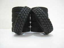 4Pcs Set Climbing Car Rubber Tyres Tires For Tamiya 1:14 Tractor Trailer Truck