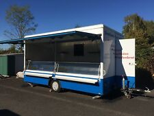 sales trailer van with refrigerated cooling fridge system