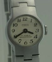 OSCO - 17 Jewels Shockproof - Damenarmbanduhr / Handaufzug / Edelstahl