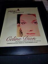 Celine Dion Vh1 Artist Of The Year Rare Original Promo Poster Ad Framed!