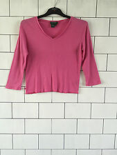 WOMEN'S RALPH LAUREN URBAN VINTAGE RETRO PINK LONG SLEEVED T SHIRT TOP UK M