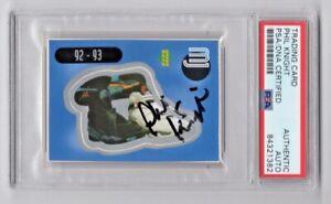 1998 Upper Deck Michael Jordan Sticker Phil Knight Nike Signed Auto #12 PSA/DNA