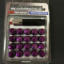 Purple 12x1.5 Steel lug nuts & lock 20 toyota civic integra supra EG EK DC2 EF