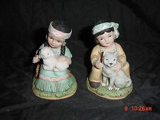 "Home Interiors Homco 2 Homco Native American Boy & Girl #1428 4"" Figurine"