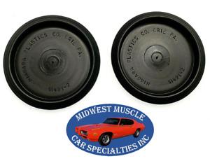 "GM GMC Chevy Pontiac 3"" Size Hole Plastic Depressed Center Body Plugs 2pcs VW"