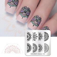 BORN PRETTY Nail Stamping Plates Square Floral Dot Nail Art Image Template Decor