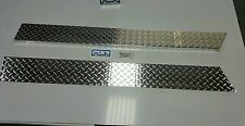 "Jeep TJ Wrangler 5 3/4"" Diamond Plate Rocker Guards  Panels 1997 - 2006 90° bend"