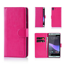 32nd Book Wallet PU Leather Case for HTC Desire 530 Screen Protector & Stylus Hot Pink