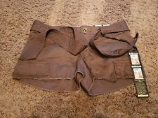 NEW DOLLHOUSE SIENNA WOMENS BROWN SHORT SHORTS JUNIORS SIZE 1 COTTON BELTED NWT