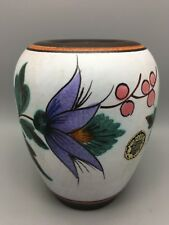 More details for vintage gouda flora pottery vase no.1490 - holland sylvia