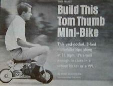 "Micro Minibike 24"" Mini Bike How-To build Plans 3/4 hp"