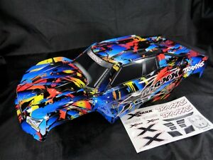 Traxxas X-Maxx 8s Rock N Roll Painted Body Shell Internal Mounts Supports