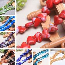 10pcs 18x15mm Charm Heart Lampwork Glass Loose Spacer Beads DIY Jewelry Making