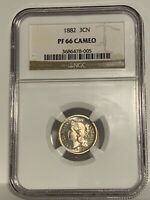 1882 Three (3) Cent Nickel Proof NGC PR66 CAMEO. Super Rare!!