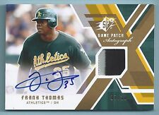 FRANK THOMAS 2009 UPPER DECK SPX 2 COLOR GAME WORN PATCH AUTOGRAPH AUTO /10