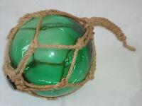 Jade Green Fishing Boat Net Float - Buoys Blown Glass Balls - Bathroom Garden