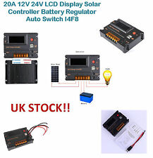 20A 12V 24V LCD Display Solar Controller Battery Regulator Auto Switch I4F8