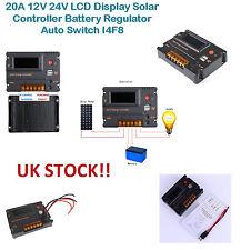 20A 12V 24V Pantalla LCD Batería controlador Solar Regulador Auto Interruptor I4F8