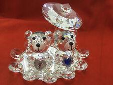 10cm Crystal Kris Bear Couple Figurine Wedding Gift Home Decor Swarovski LOOK
