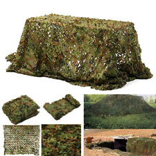 16 x 7FT Woodland Leaves Military Camouflage Net Hunting Camo Cover Netting US