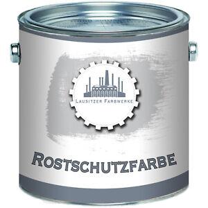 Lausitzer Farbwerke Rostschutz-Grundierung Kunstharzlack Schutz 2,5L 5L 10L Grau