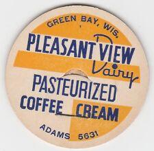 MILK BOTTLE CAP. PLEASANT VIEW DAIRY. GREEN BAY, WI.