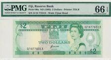 1995 Fiji 2 Dollars PMG66 EPQ QEII <P-90a> GEM UNC