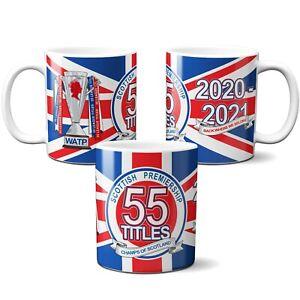 Rangers 55 Mug Champions 2020/2021 Title Winner Cup League Champs Scotland Gift