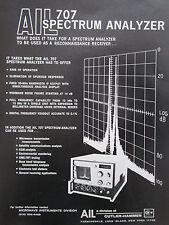4/1972 PUB AIL CUTLER HAMMER 707 SPECTRUM ANALYZER MICROWAVE INSTRUMENT AD