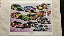 Vintage 2000 Pontiac Nascar Race Team Lineup # 14 # 43 # 22 # 36 #18 #20 #44 #10