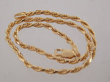 """Designer Men's Rope Bracelet or Women's Anklet 14k Yellow Gold Italy Estate 10"""""""