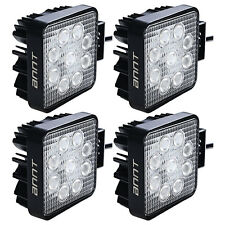 4pcs 27W LED Work Light Bar Flood Beam 4WD Offroad Boat SUV 12V 24V Square
