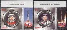 Rumania 2011 Gagarin/Prunariu/vuelo espacial/Astronautas/cosmonautas 2 V Set (n44616)
