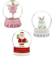 Personalised Snow Globe - Santa Claus, Fairy, Polar Bear, Xmas, Kids, Christmas