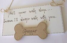 shabby chic personalised dog pet bereavement plaque sign keepsake gift