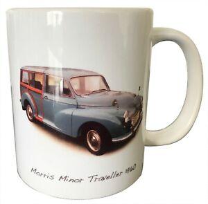 Morris Minor Traveller 1960 (Mid-Blue) - 11oz Ceramic Mug - Ideal Present